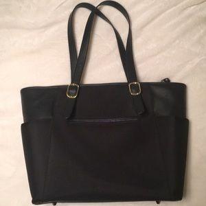 Large black laptop bag